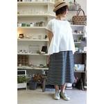 アラフォー女性のレトロコーデ術!可愛いマルチボーダースカート