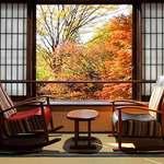 関東近郊にある温泉旅館で露天風呂から秋を贅沢に楽しめるスポット