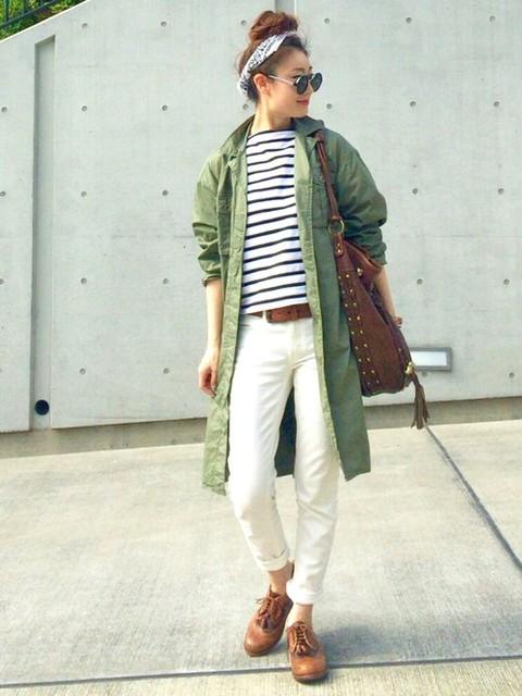 ミリタリーシャツで作るエッジの効いたモードスタイル