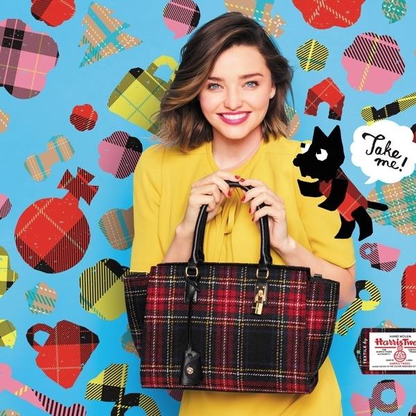 ミランダ・カーのCMで話題!サマンサタバサの新作バッグみたいな『ハリスツイードネイル』♡
