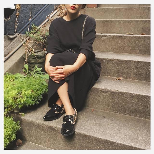 アニマル柄のアクセント♪『2016』レオパードの靴コーデをご紹介