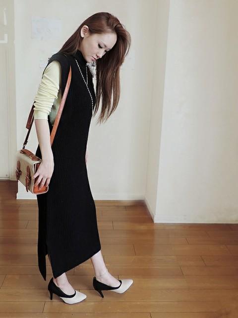 レディースファッションはこれで決まり!タートルネックロングベストの人気コーデ特集♪