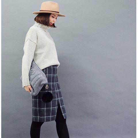 お値段もかわいい♡ファストファッションのペンシルスカートを使った冬コーデ