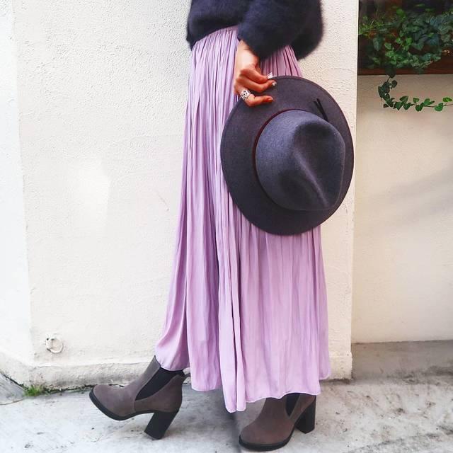 甘さにドキッ♡ガーリーさがプラスできるプリーツスカートの冬コーデ