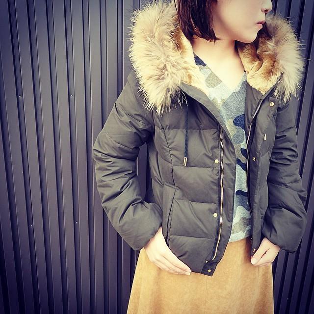 スタイリッシュコーデのマストアイテム♡ショートダウンを使った冬コーデ7選