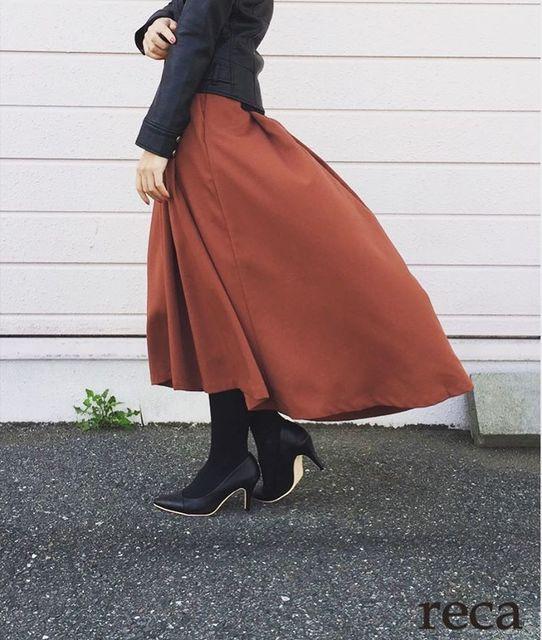 フィッシュテールスカートを使った冬の着こなし7選