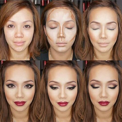 How to contour how to ‪‎Highlight‬ and Contour‬ http://www.justtrendygirls.com/how-to-contouring-and-highlighting-your-face-with-makeup/ by Just trendy girls | We Heart It (1223)