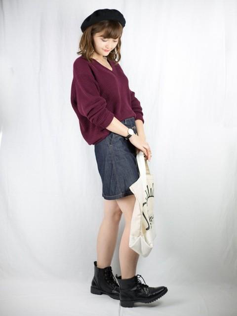 プチプラのあや|LOWRYS FARMのデニムスカートを使ったコーディネート - WEAR (11170)