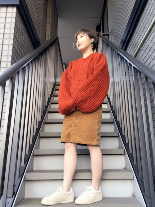 無印良品 MUJI コーデュロイスカート 64㎝ 茶 美品