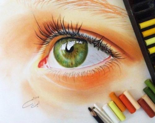 #Eyes #Eye #Greeb #Beautiful #Look #Pretty #Draw #Drawing #Color by starryway ✩   We Heart It (480406)