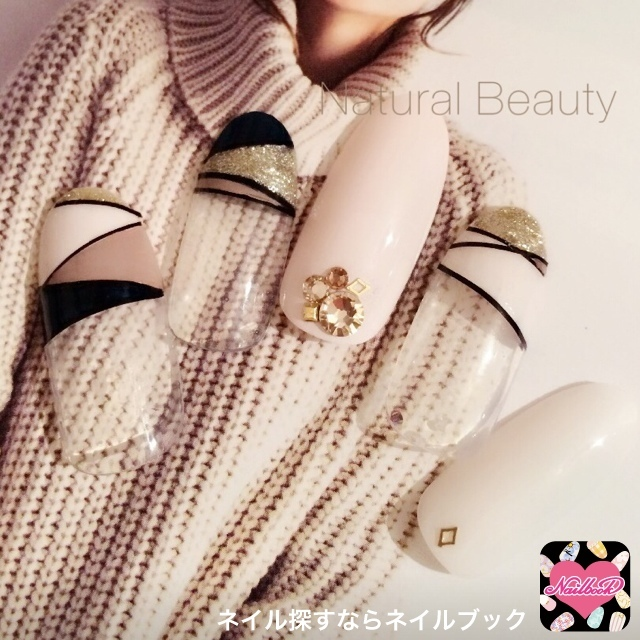 naturalbeautyさんのソフトジェル,ベージュ,秋ネイル♪[651315]|ネイルブック (460430)