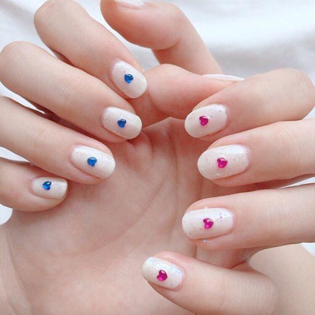 ブルーとピンクの組み合わせ♡