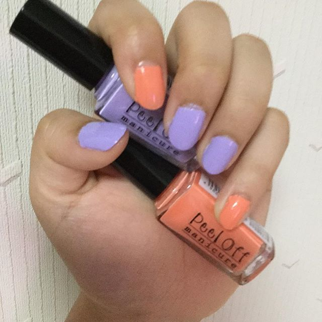 ハロウィンに重宝しそうなオレンジと紫♫