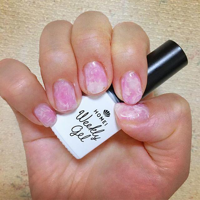 可愛いピンクと白のマーブル♡