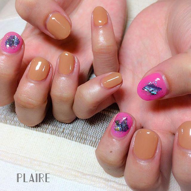 ピンクカラー+キャメルって意外とハマる♡!