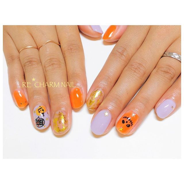 ゴールド+オレンジ+パープルな王道カラー