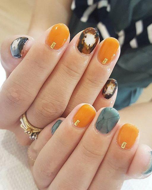 かぼちゃのオレンジカラー+グリーンカラー◎