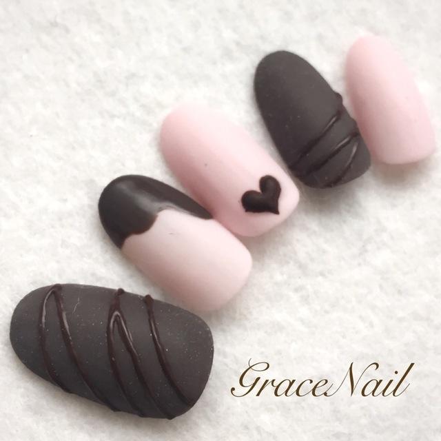 チョコネイル / GraceNail (GraceNail) のネイル - ネイルクルー (477831)