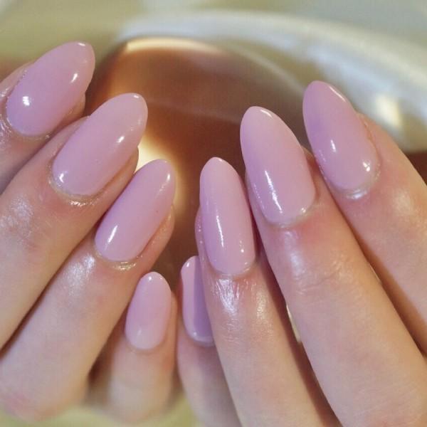 オーバルのワンカラーくすみピンク