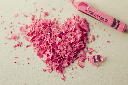 02.12.10 : tickle me pink   Flickr – Compartilhamento de fotos!   We Heart It   pink, heart, and crayon (511054)