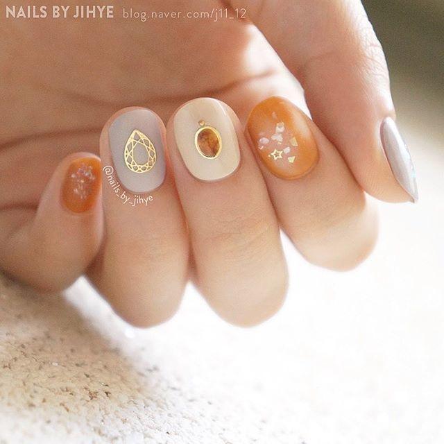 オレンジネイル、ブラウンネイル