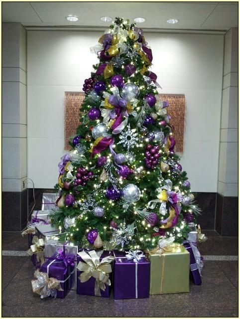 Purple Christmas Tree Decorations | Home Design Ideas (516922)