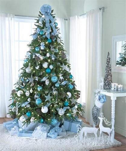 Navidadturquesaárbolpino | We Heart It | christmas, christmas tree, and winter (516928)